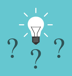 light bulb question marks vector image