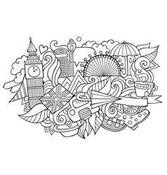 london hand drawn cartoon doodles vector image