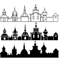 Medieval sity vector image