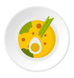 Miso soup icon circle vector
