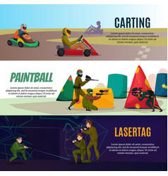Modern gaming sports banners set vector