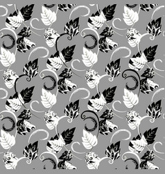 modern leafy seamless pattern floral vector image