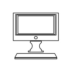 modern screen computer monitor technology vector image