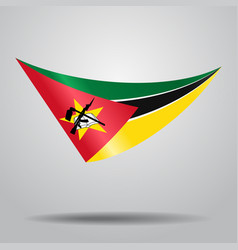 Mozambique flag background vector