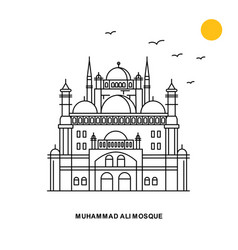 Muhammad ali mosque monument world travel natural vector