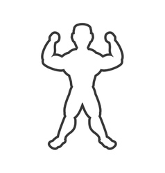 Muscle man icon Bodybuilder design vector image
