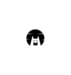 Night bat smile with moon logo design icon vector