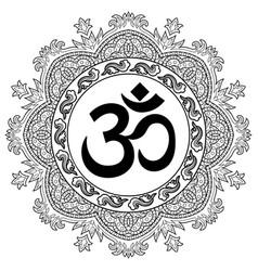 Om and mandala tattoo vector