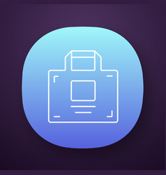 package shopping bag app icon uiux user interface vector image