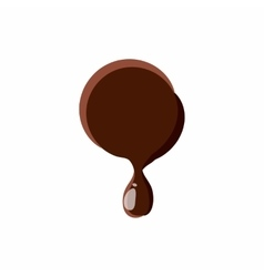Point from latin alphabet made of chocolate vector image