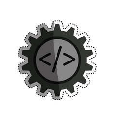 Programming language gear vector