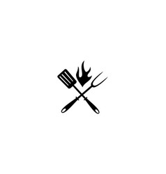 restaurant barbeques logo design template vector image