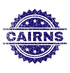 Scratched textured cairns stamp seal vector