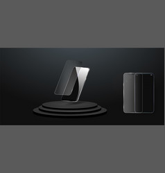 Screen protector glass vector
