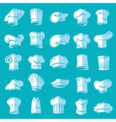 set of chef hats vector image