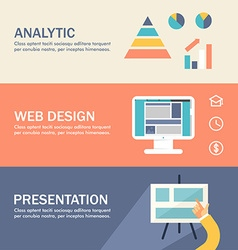 Set of Flat Design Concepts for Web Banners and vector