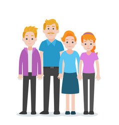 Set of people character family concept vector