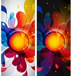 Set of two abstract mobile phone backgrounds with vector