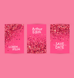 shining sequins flyer design template set poster vector image