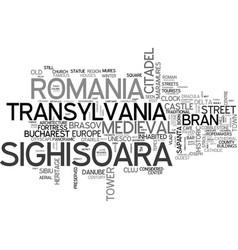 Sighisoara word cloud concept vector