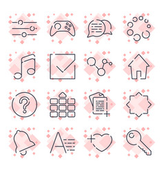 simple set of office related line icons vector image