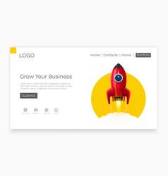 Space rocket launch startup creative idea vector