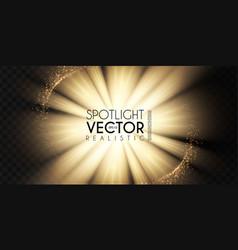 Spotlights transparent light effect show design vector