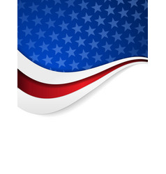Stars and stripes themed background vector