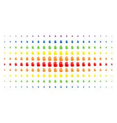 stop hand spectrum halftone matrix vector image