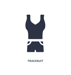 Tracksuit icon on white background simple element vector