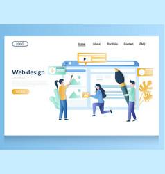 web design website landing page template vector image