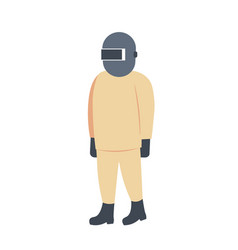 welder man icon industrial worker in protective vector image