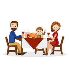 young family father mother and daughter sitting vector image