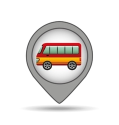 bus map pointer design vector image