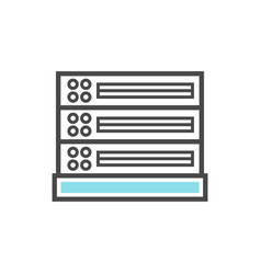 computer server isolated linear icon vector image vector image