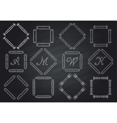 frames for text hand-drawn monogram vector image vector image