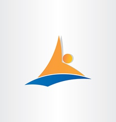 man swimming in water symbol vector image