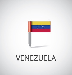 venezuela flag pin vector image