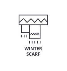 winter scarf line icon outline sign linear vector image vector image
