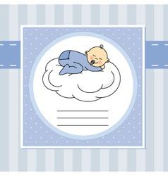 baby sleeping on the moon vector image