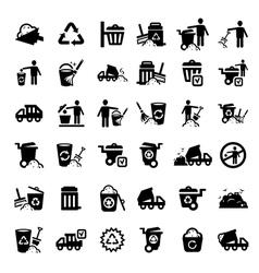 big garbage icons set vector image