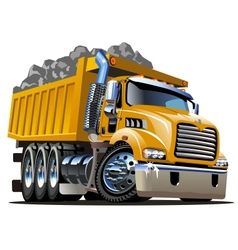 Cartoon Dump Truck vector image