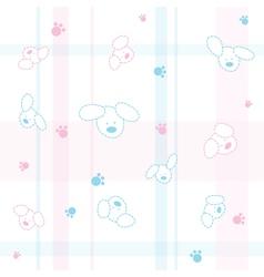 Cute Dogs Children Wallpaper vector image