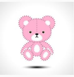 flurry teddy bear vector image vector image