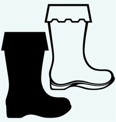 Old dirty boots vector image vector image