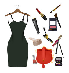 set of female things vector image