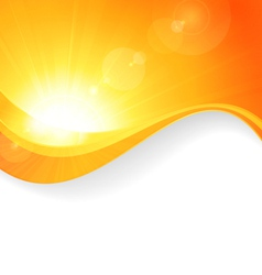 Sun background with wavy pattern vector image vector image