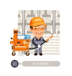 Worker Plasterimg Wall vector image vector image