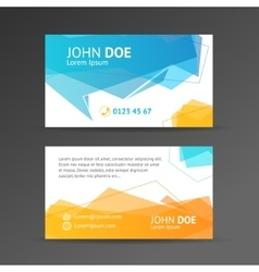 abstract geometric bubble business card vector image vector image