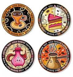 coffee tea drink coasters vector image vector image
